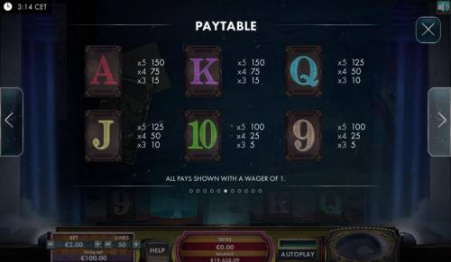 The Great Escape Artist Review Slots Low value game symbols paytable