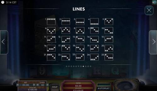 The Great Escape Artist Review Slots Payline Diagrams 1-25