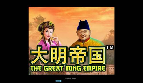 The Great Ming Empire Review Slots Splash screen - game loading
