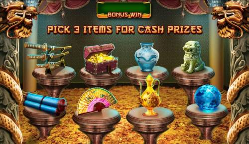 The Great Ming Empire Review Slots Pick three items for cash prize.