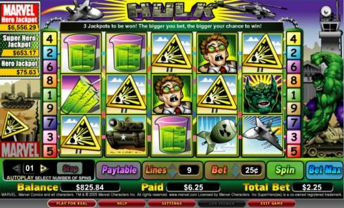 The Hulk review on Review Slots