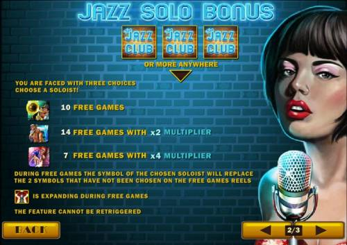 The Jazz Club Review Slots 3 or more jazz club symbols anywhere triggers free games