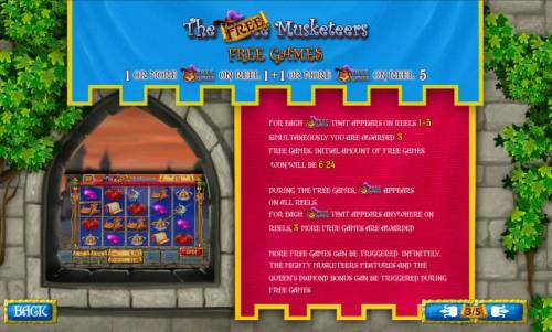 The Three Muskateers Review Slots Free games rules