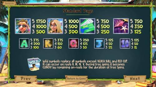 The Tipsy Tourist Review Slots Slot game symbols paytable