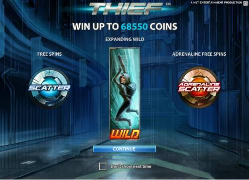 Thief Review Slots win up to 68550 coins