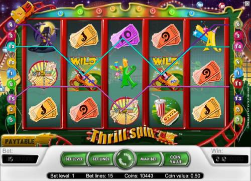 Thrill Spin Review Slots another example of a multiple winning paylines