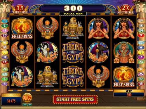 Throne of Egypt Review Slots here is the start of the free spins bonus feature