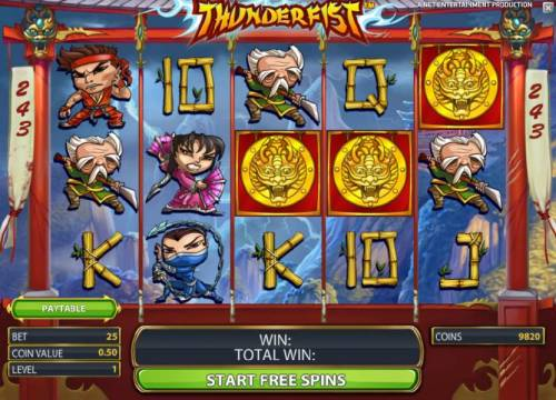 Thunderfist Review Slots free spins feature game board