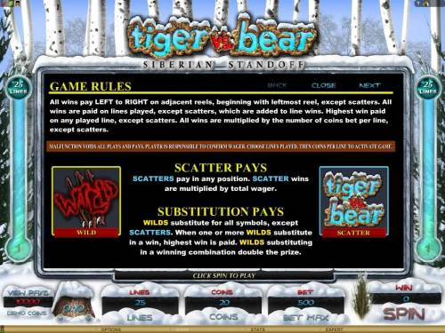 Tiger vs. Bear review on Review Slots