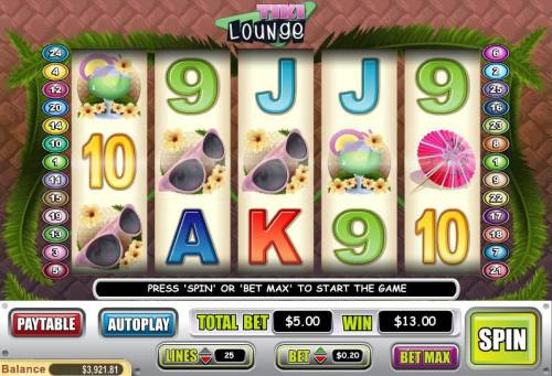 Tiki Lounge review on Review Slots