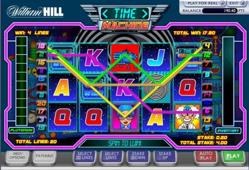 Time Machine Review Slots here is an example of four payline jackpot