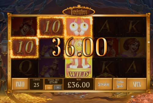 Tinderbox Treasure Review Slots Stacked wild triggers multiple winning paylines