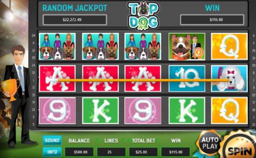 Top Dog Review Slots A pair of winning paylines triggers a 115.00 jackpot.