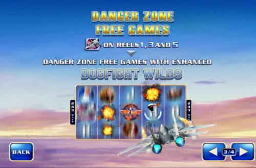 Top Gun Review Slots Danger Zone Free Games - F-14 Tomcat on reels 1, 3 and 5 awards Danger Zone Free Games with enhanced dogfight wilds.