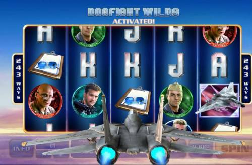 Top Gun Review Slots Dogfight Wilds Activated