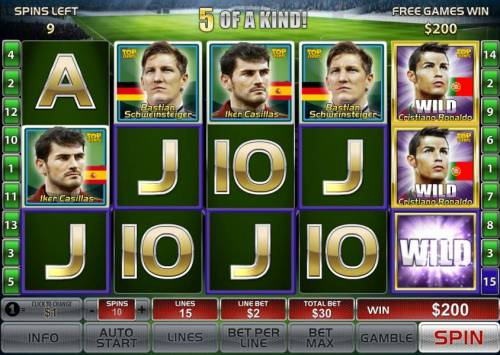 Top Trumps World Football Stars 2014 Review Slots A five of a kind triggers a big win during the free games feature