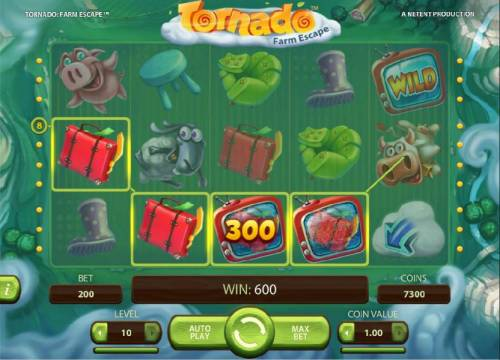 Tornado Farm Escape Review Slots Multiple winning paylines triggers a 600 coin big win!