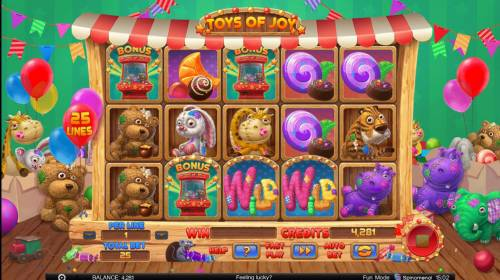 Toys of Joy Review Slots Scatter win triggers the bonus feature