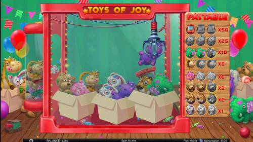 Toys of Joy Review Slots Pick stuffed animals and winn a cash prize