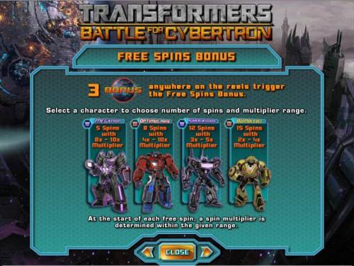 Transformers - Battle for Cybertron  Review Slots free spins bonus rules