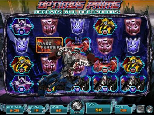Transformers - Battle for Cybertron  Review Slots optimus prime mystery feature triggered