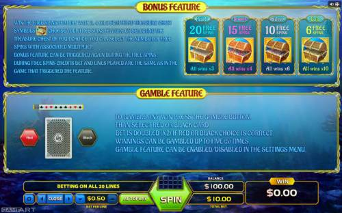 Treasure Reef Review Slots Feature Rules