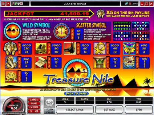 Treasure Nile review on Review Slots