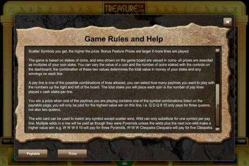 Treasure of the Pyramids review on Review Slots