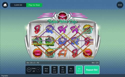 Triple Win Cafe Review Slots Multiple winning paylines triggers a big win!