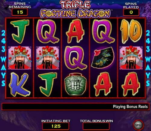 Triple Fortune Dragon Review Slots free spins bonus feature game board