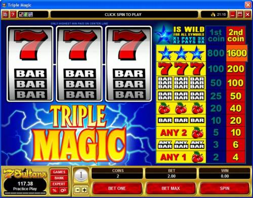 Triple Magic review on Review Slots