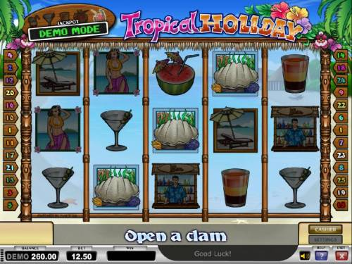 Tropical Holiday Review Slots open a claim bonus feature triggered