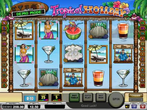 Tropical Holiday Review Slots twenty free games awarded