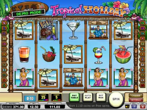 Tropical Holiday Review Slots the free spins feature pays out a total of $111
