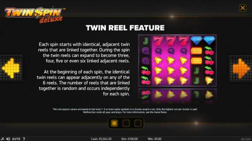 Twin Spin Deluxe Review Slots Twin Reel Feature Rules