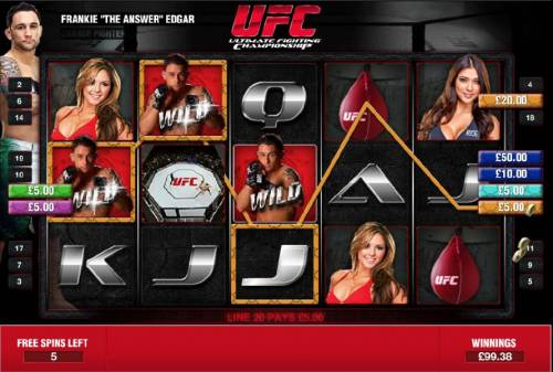 Ultimate Fighting Championship Review Slots multiple winning paylines during free spins feature