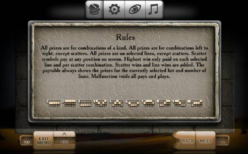 Urartu Review Slots General Game Rules and Payline Diagrams 1-10