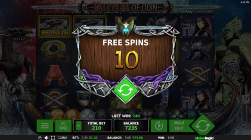 Valkyries of Odin Review Slots 10 Free Games awarded