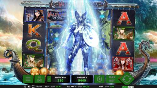Valkyries of Odin Review Slots Bonus Feature Triggered