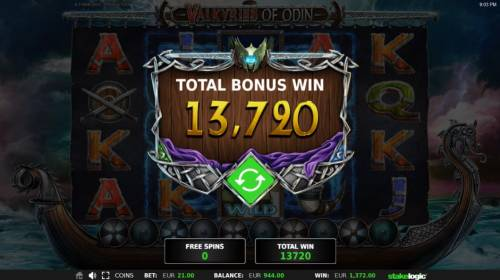 Valkyries of Odin Review Slots Total Free Spins Bonus Win 13,720 coins