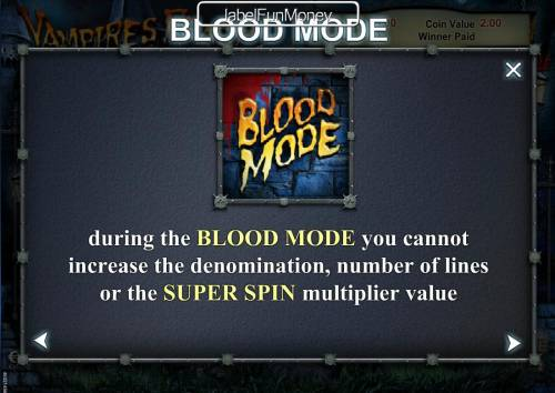 Vampires Feast Super Spin Review Slots Blood Mode Rules Continued