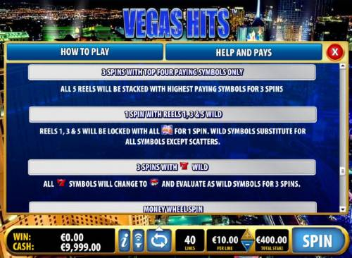 Vegas Hits Review Slots free spins pays continued