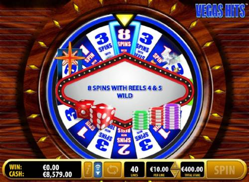 Vegas Hits Review Slots 8 free spins with reels 4 and 5 wild