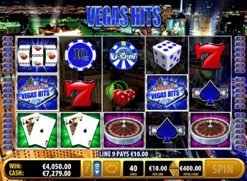 Vegas Hits Review Slots 10x multippier leads to a $4050 big win