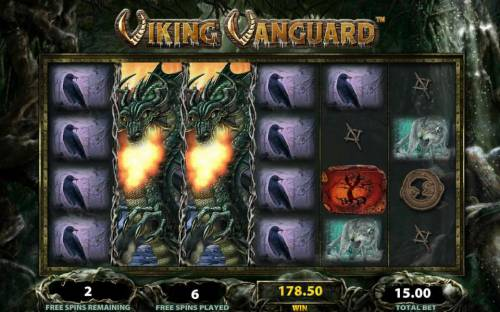 Viking Vanguard Review Slots Multiple winning paylines triggers a big win during the free spins bonus feature!