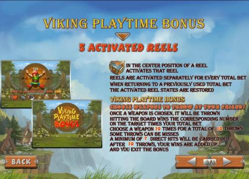 Viking Mania Review Slots viking playtime bonus triggered when the mallet symbol lands in the the center position of each reel