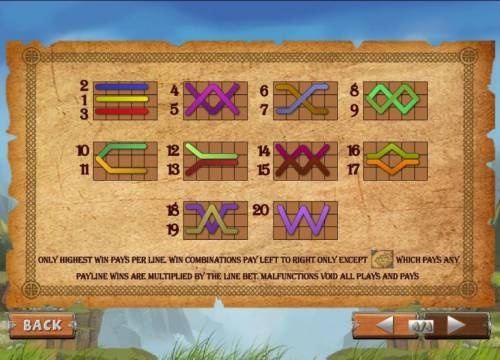 Viking Mania Review Slots 20 paylines with only the highest win pays per line