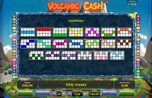 Volcanic Cash Review Slots Paylines 1-20
