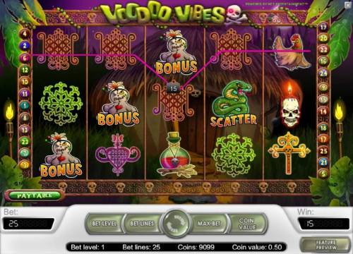 Voodoo Vibes Review Slots bonus feature triggered
