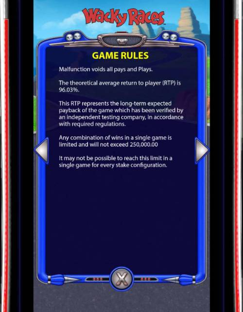 Wacky Races Review Slots General Game Rules
